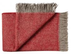 Wolldecke aus Skandinavien rot