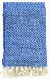 Wolldecke ZagZig blau/blau 1400gr.