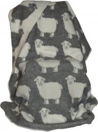 Wolldecke Schafe grau