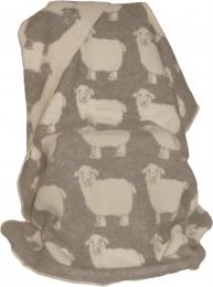 Wolldecke Schafe beige