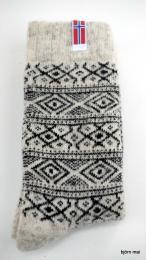 Wollsocke mit Muster