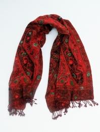 Wolltuch Ornamente rot