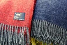 Wolldecke aus Gotlandwolle Premium blau