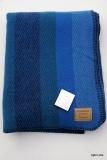 Schurwolldecke Monrovia 340/6 blau