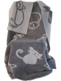 Wolldecke mit Katzen