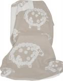 Wolldecke mit Lockenschaf braun/beige