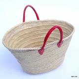 Ibiza Strandtasche und Shopperbag Griff rot