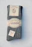 Wollsocke mit Cashmere grau/anthrazit
