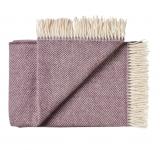 Wolldecke Römö purple